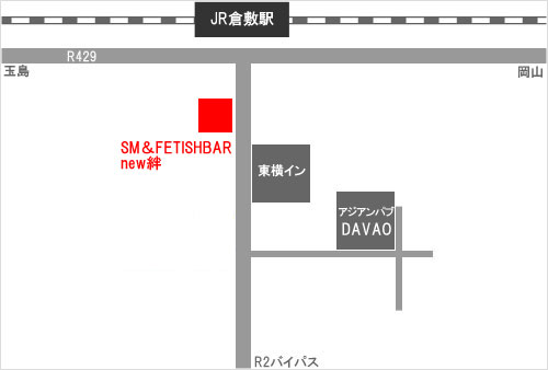 SM&FETISHBAR new絆の地図